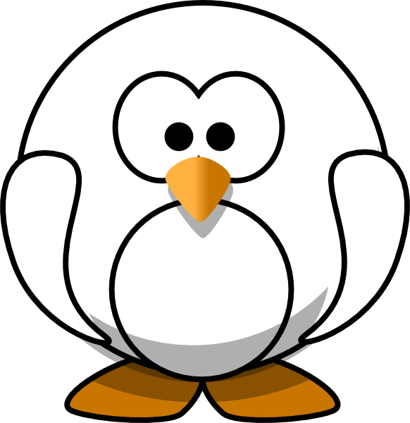 Penguin clip art black and white. At clker com vector
