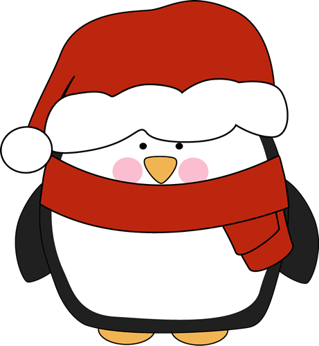 Santa hat origami here. Penguin clip art easy banner black and white download