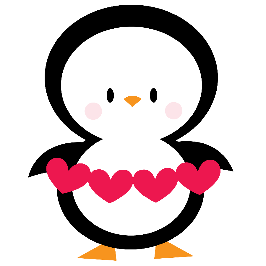 Penguin clip art heart. Pinguins minus cosas lindas