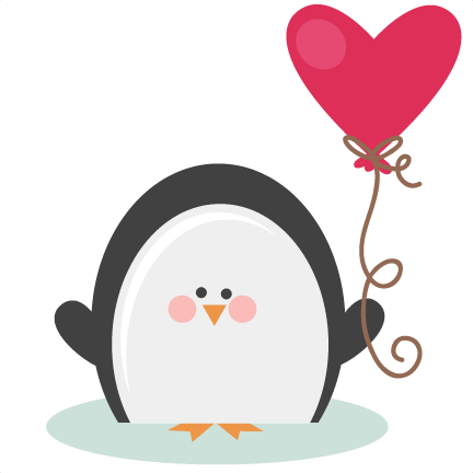 Penguin clip art heart. Free valentine cliparts download