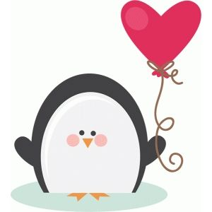 Penguin clip art heart. Silhouette design store search