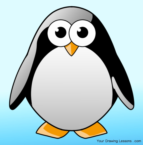 How to draw a. Penguin clip art realistic graphic transparent library
