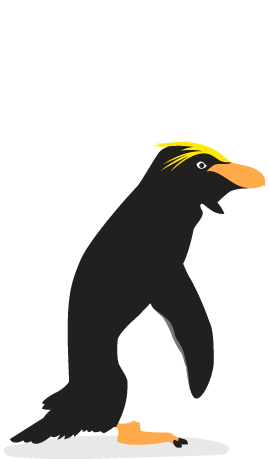 Penguins of the world. Penguin clip art royal penguin banner library stock