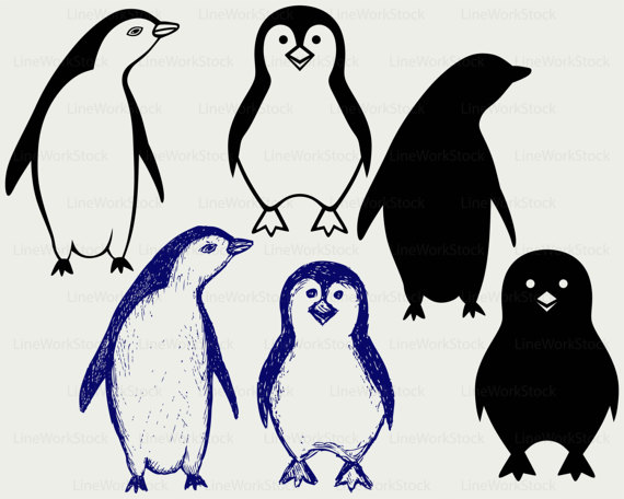Penguin clip art silhouette. Svg cartoon clipart svgcartoon
