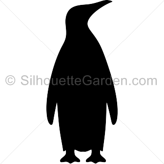 Penguin silhouette png. Emperor