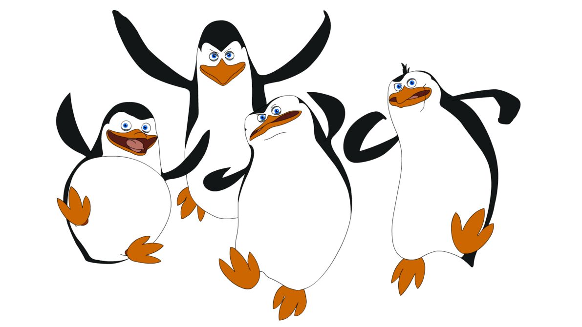 Vector minion gambar. Madagascar penguins png image