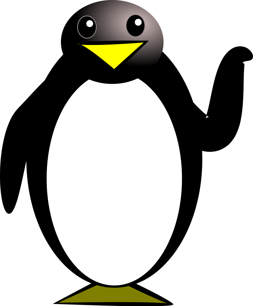 Penguin clip art transparent background. Free stock photo illustration
