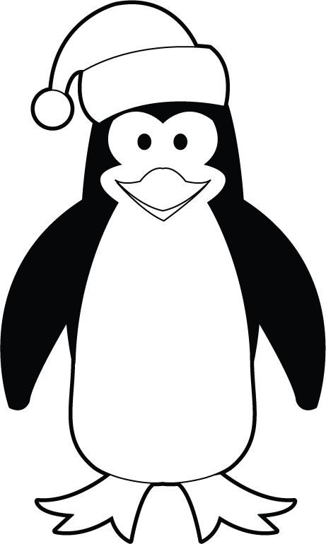 Penguin clipart black and white. Halloween graphic freeuse stock