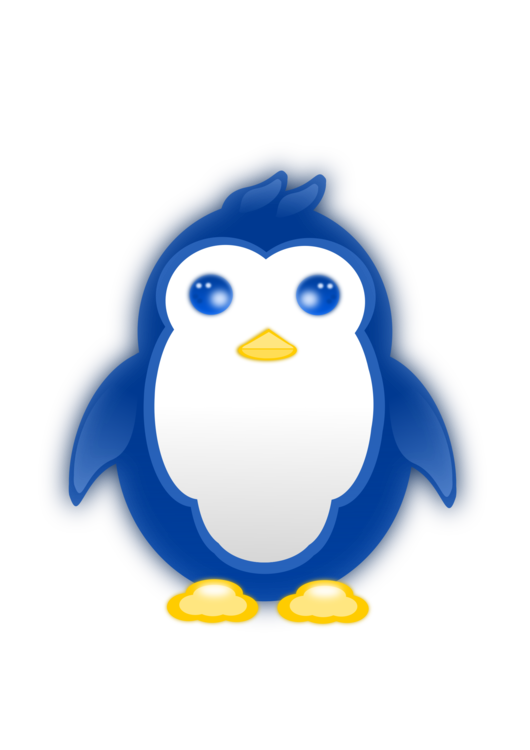 Penguin clipart blue. Little bird king tux