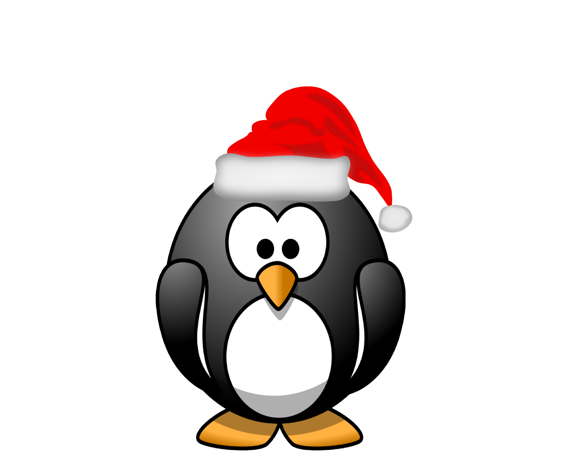 Penguin clipart snow. Free christmas download clip