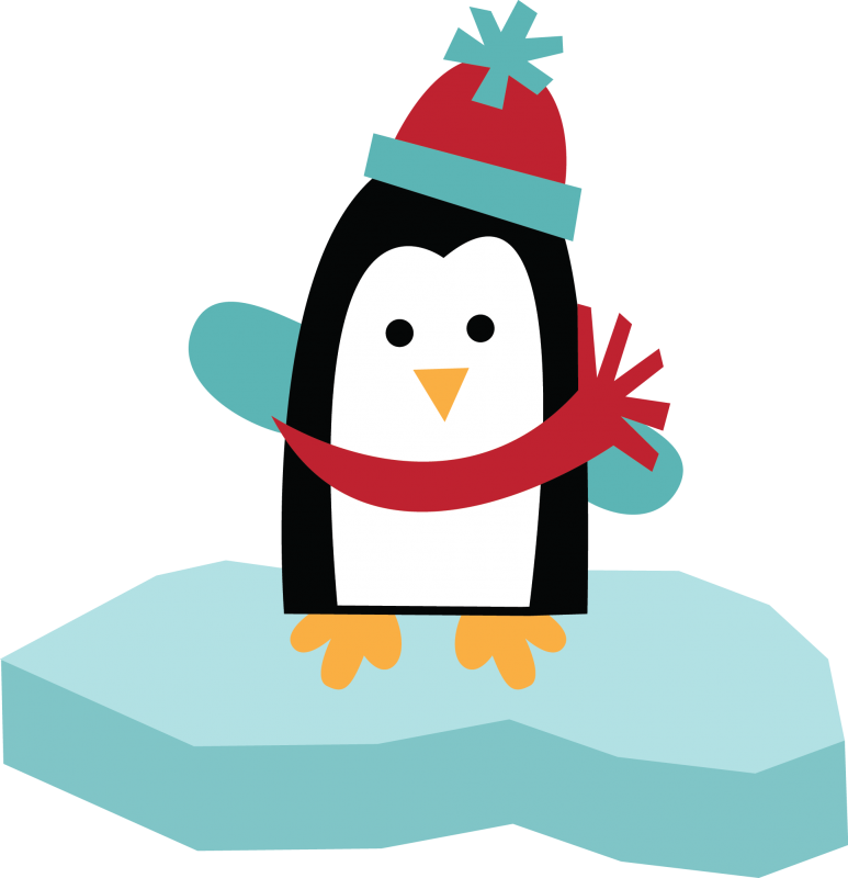Penguin clipart home. Snow