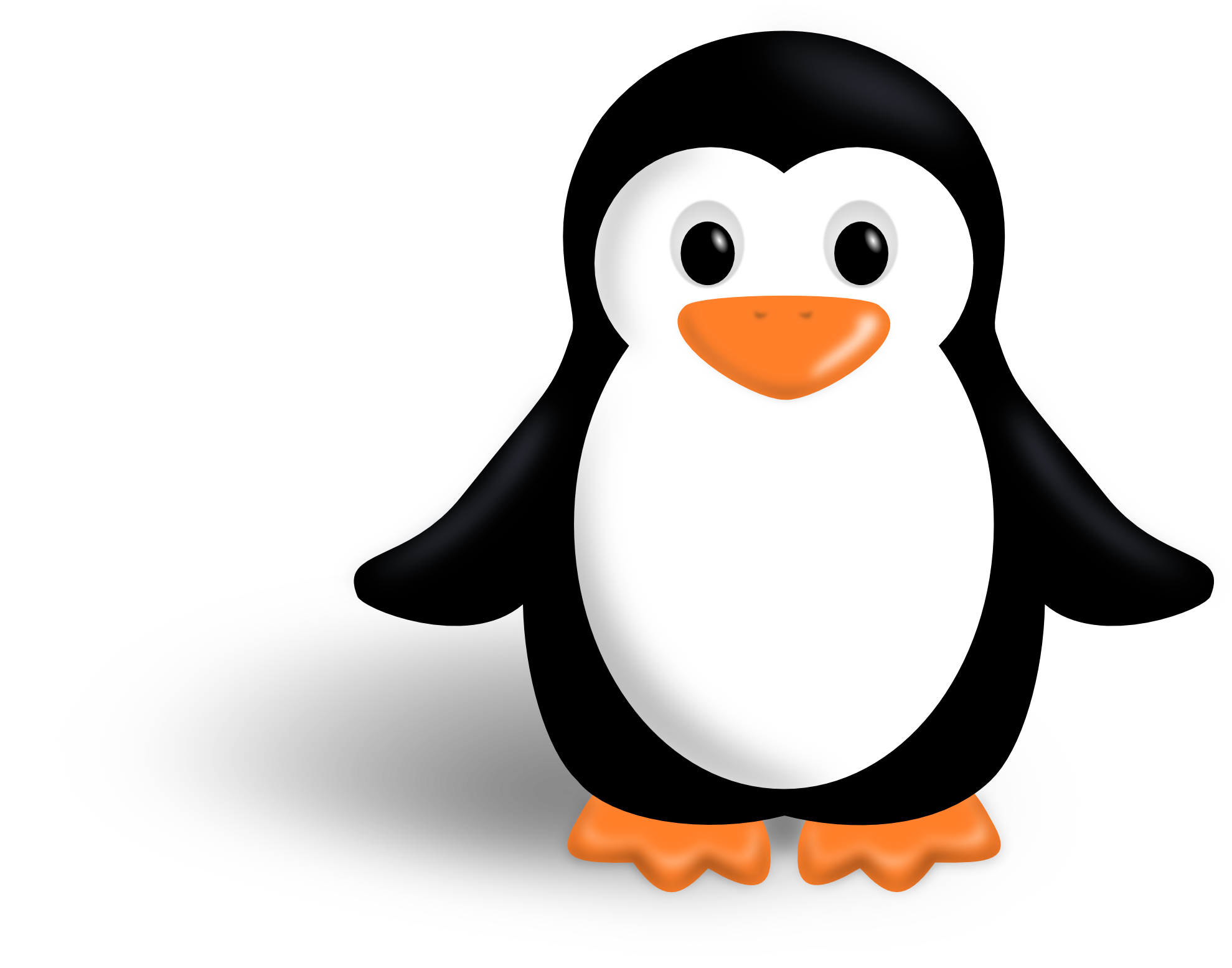 Penguin clipart illustration. Free to share clipartmonk