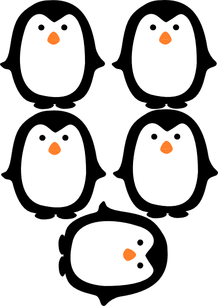Penguin clipart printable. Daycare more