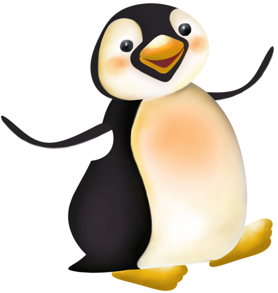 Penguin clipart realistic. Pin by nora mahmood