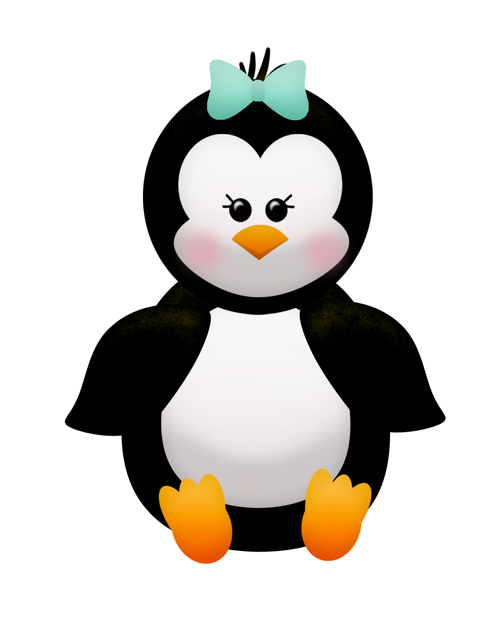 Penguin clipart spring. Penguins free download on