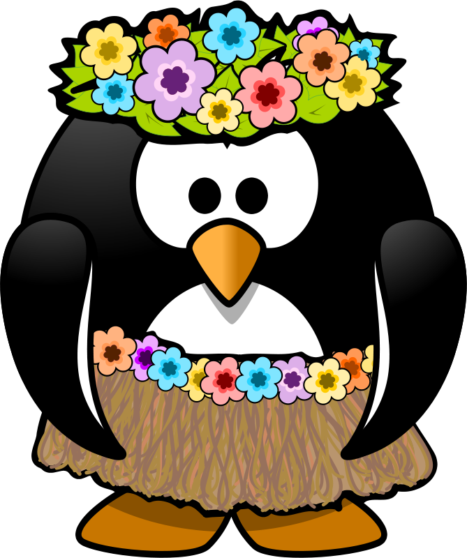 Penguin clipart summer. Free on dumielauxepices net