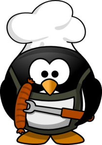Penguin clipart summer. Bbq clip art at