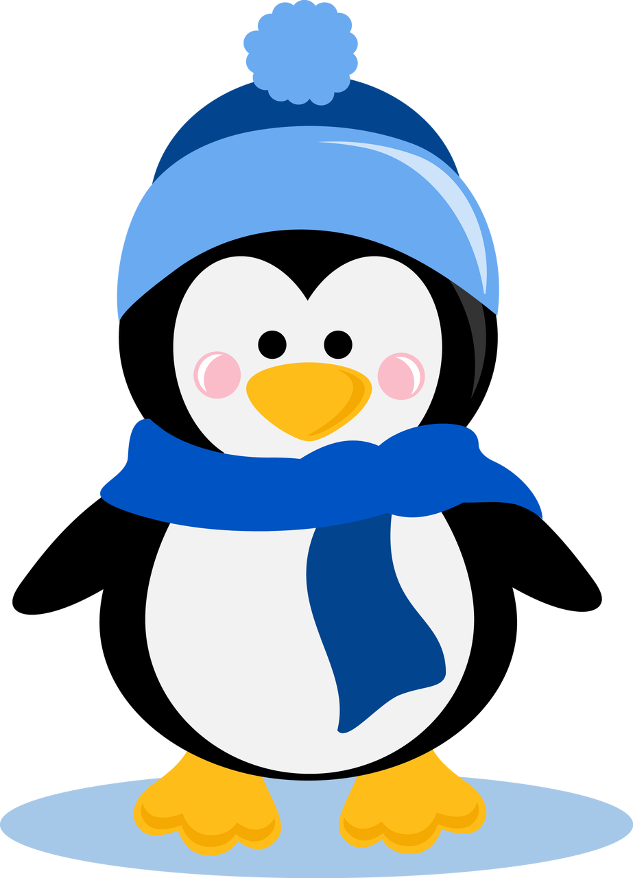 Penguin clipart winter. Pin by rebecca yeager