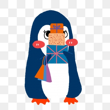 Penguin png blue. Hand drawn images vectors