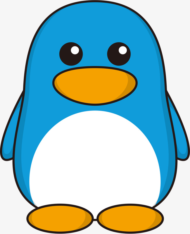 Penguin png blue. Vector cartoon and