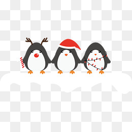 Penguin png winter. Christmas images vectors and