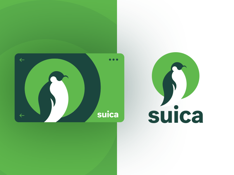 Penguin png suica. Travel card by sean