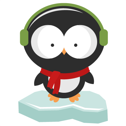 Penguin png winter. Svg cutting files for