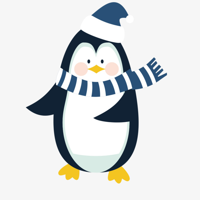 Penguin png winter. Vector material blue and