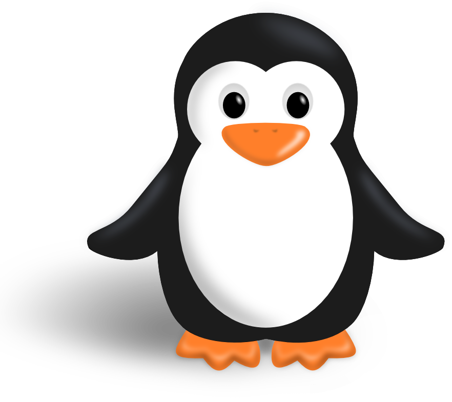 Penguin silhouette png. Free cute clipart clipartfest