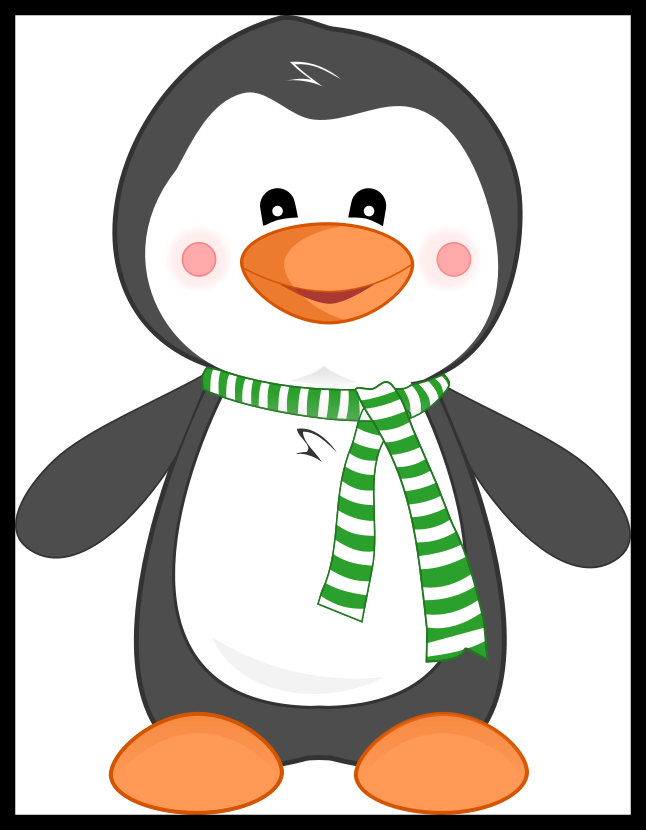 Penguins clipart colored. Cliparts for free
