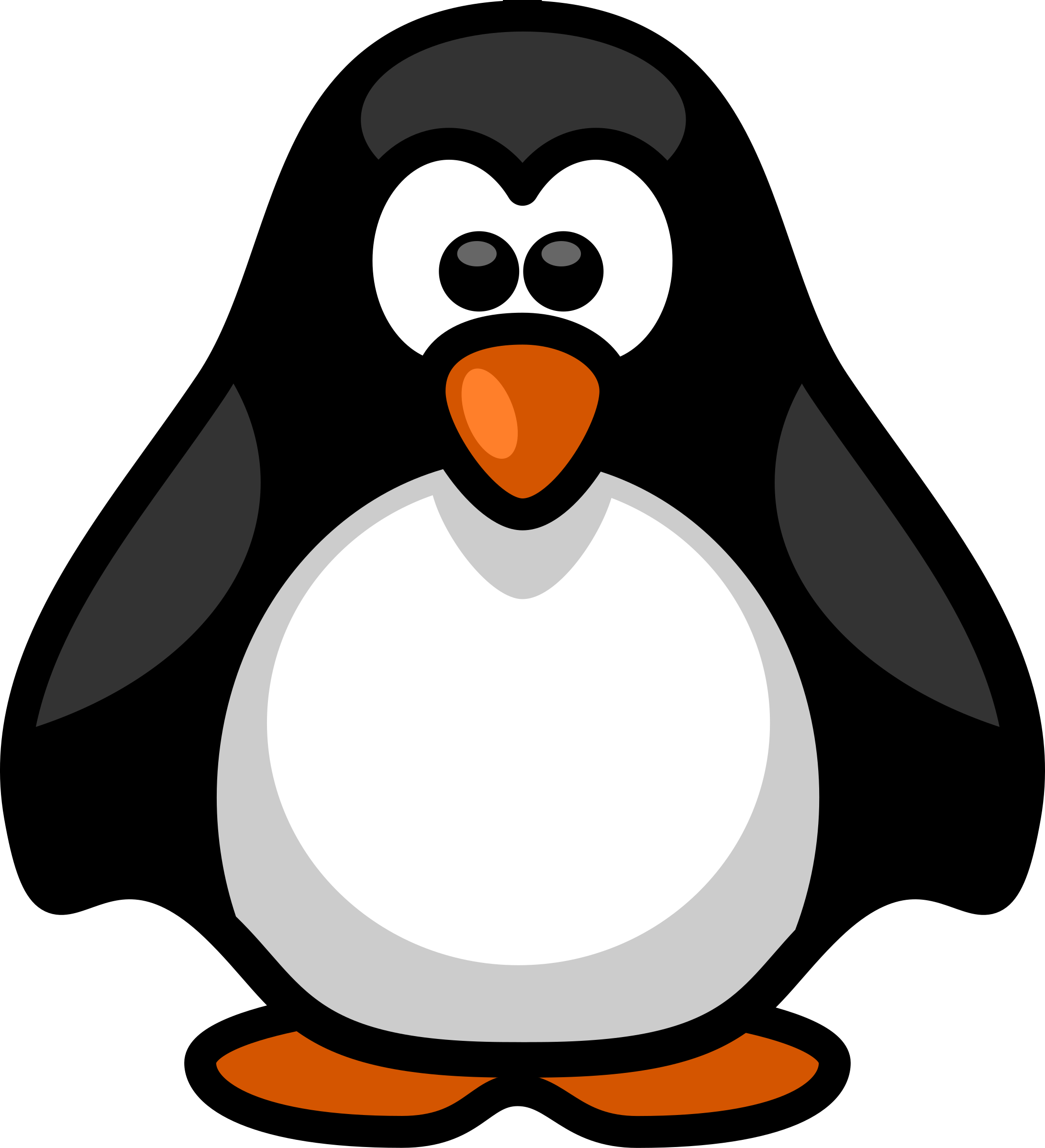 Ballon drawing little penguin. Clipart big image png