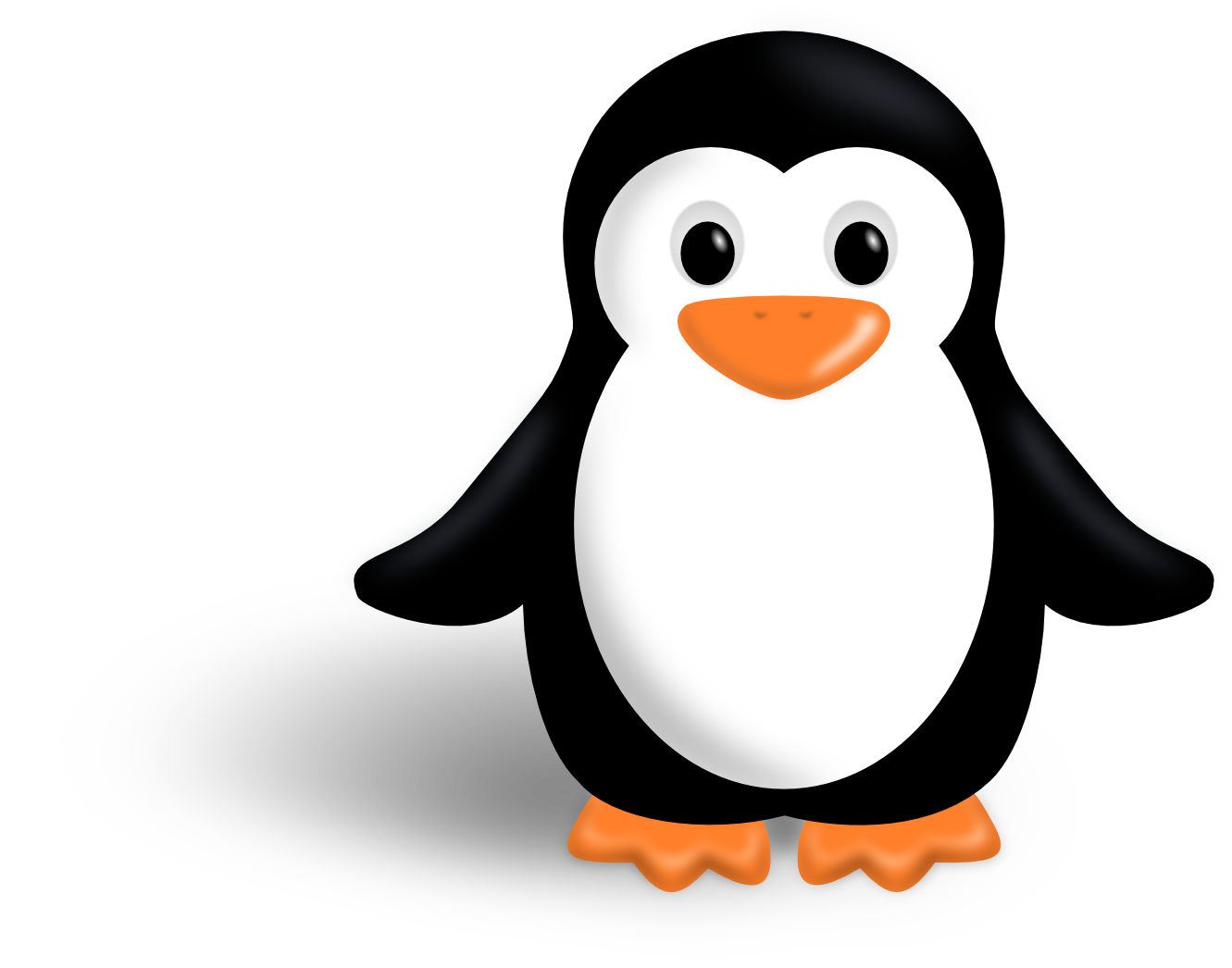 Penguins clipart construction. Emperor penguin silhouette at