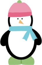 Penguins clipart hat. Winter penguin clip art