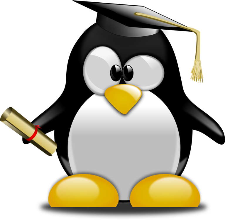 Penguin clipart school. Graduation ceremony tuxedo graduate