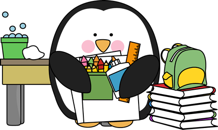 Penguins clipart school. Penguin at