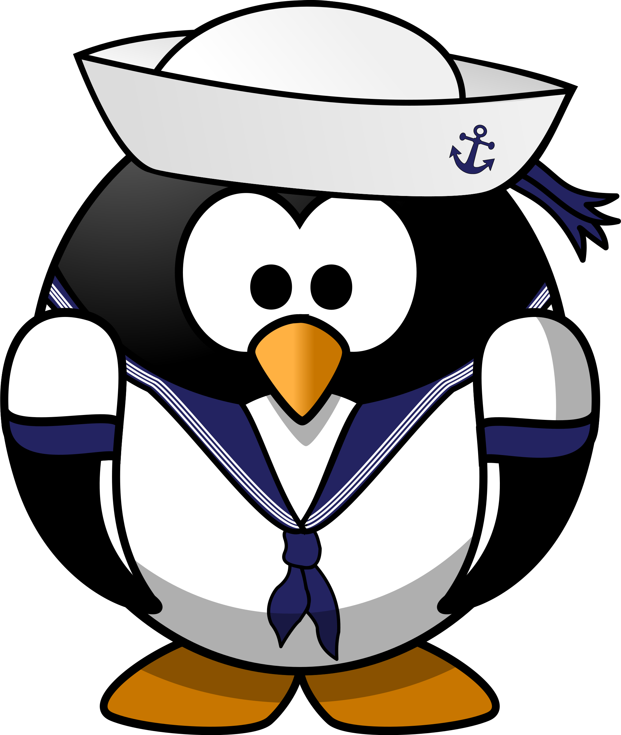 Sailor clipart sailor hat. Penguin big image png