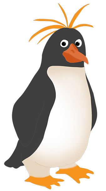 Penguins clipart walking. Funny penguin clip art