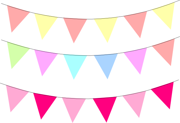 Pennant clipart rainbow banner. Free image transparent download