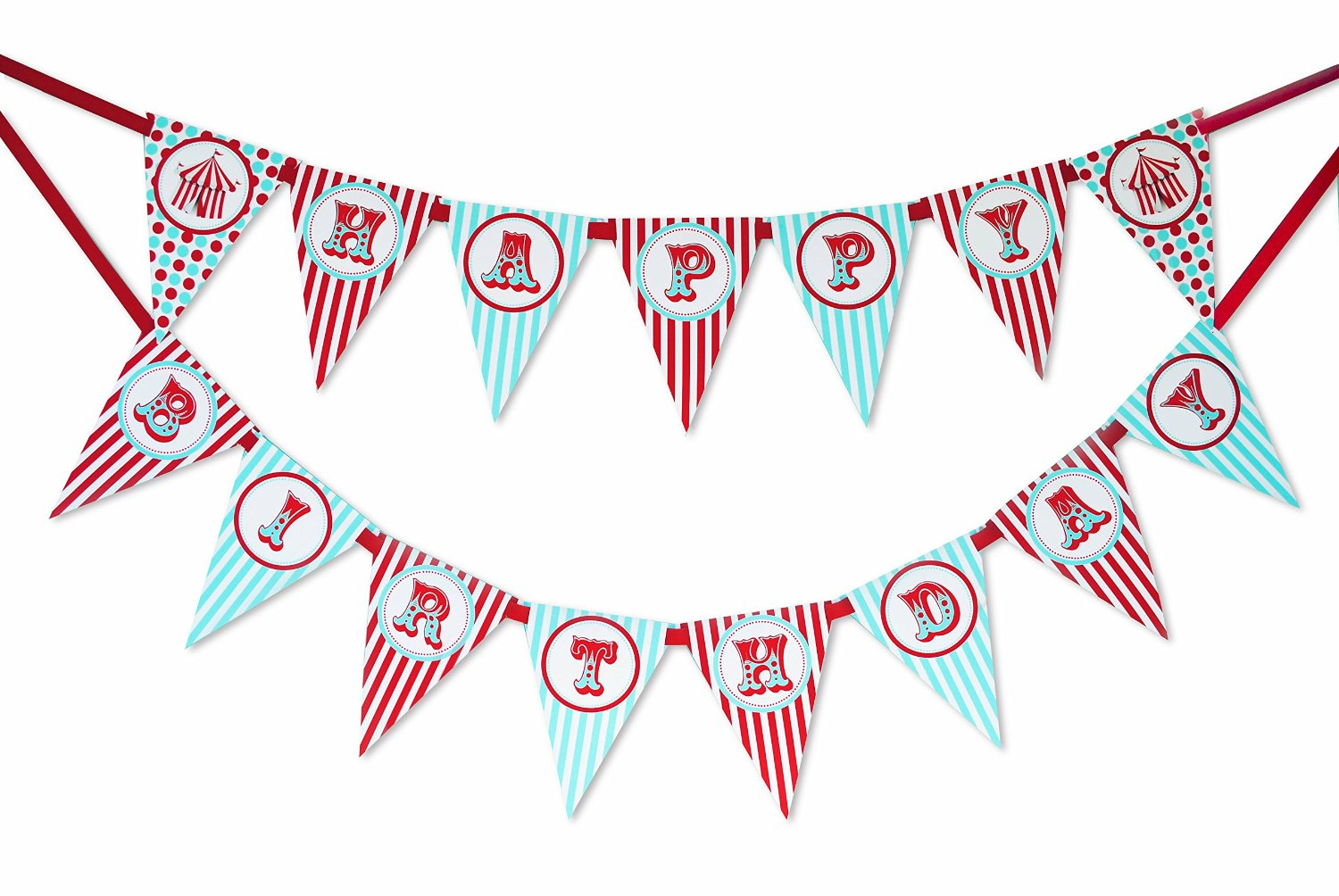 Pennant clipart birthday banner. Circus carnival happy poppartiesink