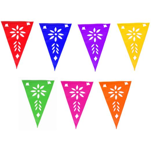 Pennant clipart flag party mexican. Papel picado supplies at