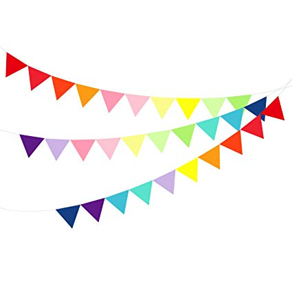 Pennant clipart flag party mexican. Amazon com small multicolor