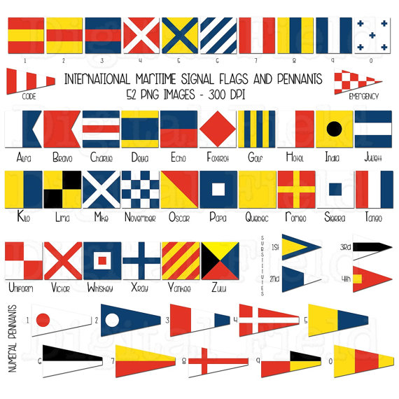 Pennant clipart sailboat flag. International maritime signal flags