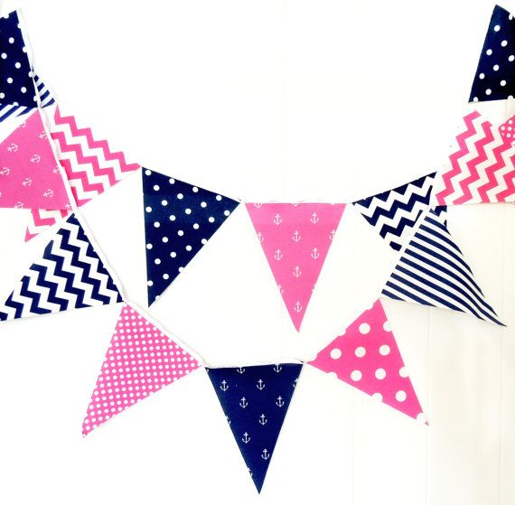 Pennant clipart sailboat flag. Party bunting banner fabric