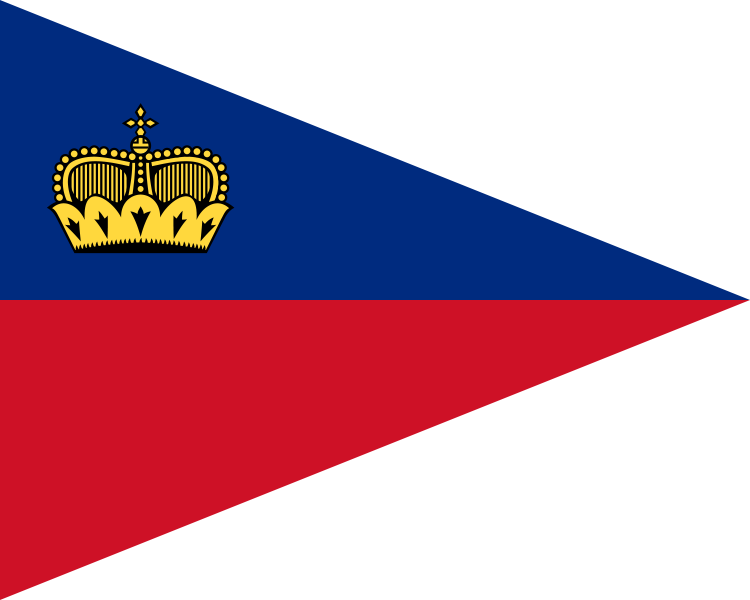 Pennant svg flag. File of liechtenstein wikimedia