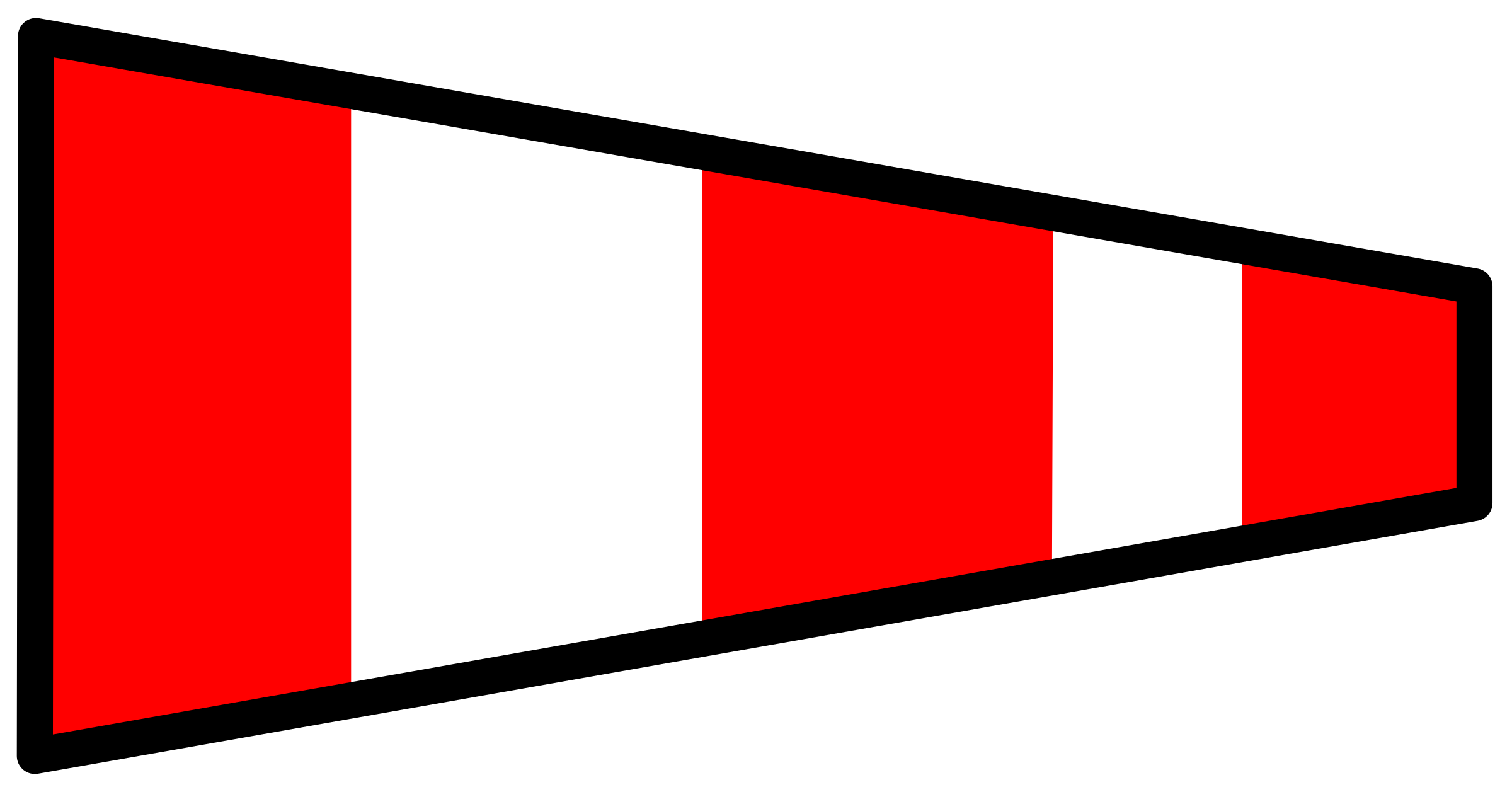 Pennant svg swallowtail. Signal flag answering icons