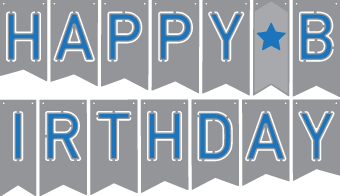 Pennant svg free. Files birthday banner svgcuts