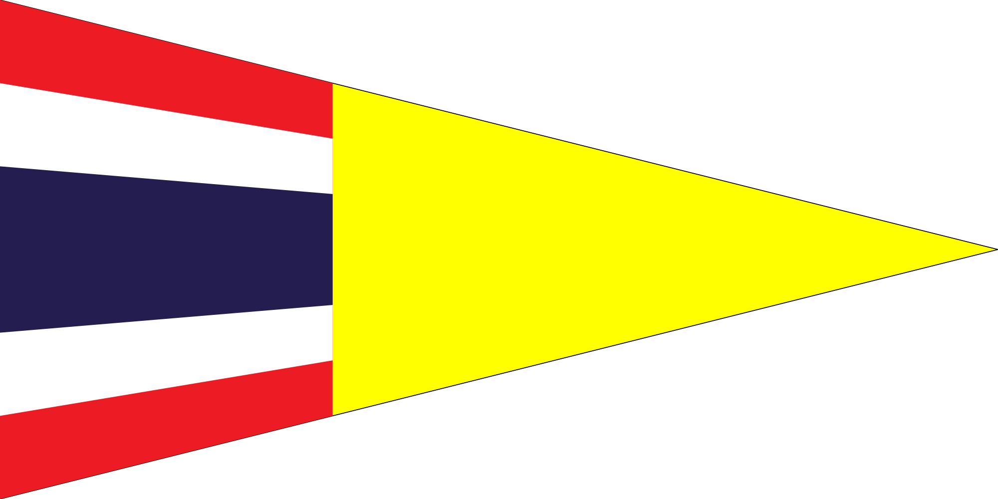 Pennant svg yellow flag. File thai immigration service