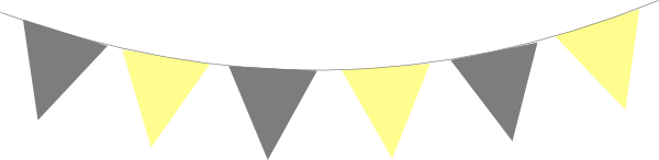 Pennant svg yellow gray. Bunting flags clip art