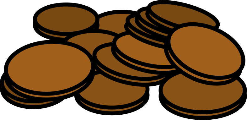 Penny clipart spare change. Pennies medium image png