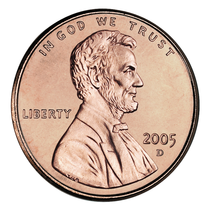 penny transparent one cent